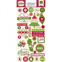 Echo Park Home For The Holidays Self Adhesive Chipboard Shape Stickers HFH73022