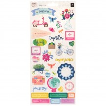"Pink Paislee Paige Evans Horizon 6""x12"" Accent & Phrase Stickers 310784"