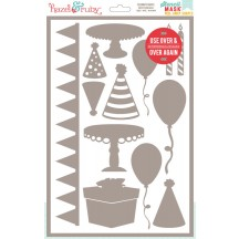 "Hazel & Ruby Celebrate Shapes Peel-Away 8""x12"" Stencil Mask HR-SM335"