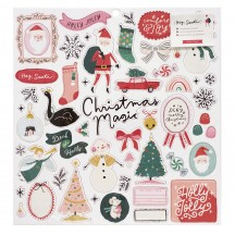"Crate Paper Hey, Santa Christmas 12""x12"" Self Adhesive Chipboard Accents 373209"