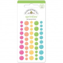 Doodlebug Spring Sprinkles Glossy Enamel Dots 4073 pink orange yellow green blue