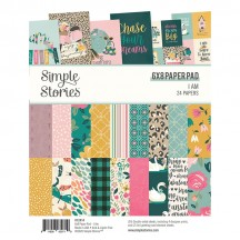 "Simple Stories I Am 6""x8"" Double-Sided Paper Pad 12414"