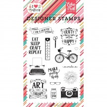Echo Park I am a Crafter Clear Stamp Set IHC169045