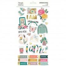 Simple Stories I Am Self Adhesive Chipboard Shape Stickers 12415