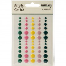 Simple Stories I Am Enamel Dots pink yellow green 12424