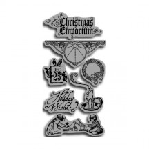 Graphic 45 Cling Stamps by Hampton Art - Christmas Emporium 1 - IC0126