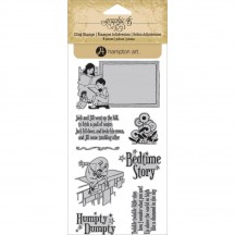 Graphic 45 Mother Goose 3 Rubber Cling Stamps by Hampton Art IC0253
