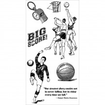 Graphic 45 Good Ol' Sport #2 Rubber Cling Stamps by Hampton Art IC0300