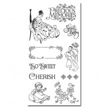 Graphic 45 Precious Memories 1 Rubber Cling Stamps by Hampton Art IC0329