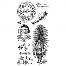 Graphic 45 St Nicholas 1 Christmas Rubber Cling Stamps by Hampton Art IC0371
