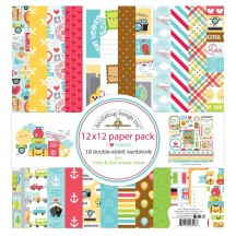 "Doodlebug I Heart Travel 12""x12"" Paper Pack 6418"