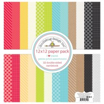 "Doodlebug I Heart Travel Petite Prints 12""x12"" Cardstock Assortment 6419"