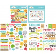 Doodlebug I Heart Travel Chit Chat Die-Cut Cardstock Ephemera 6373