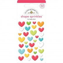 Doodlebug I Heart Travel My Happy Place Sprinkles Glossy Enamel Shapes 6352