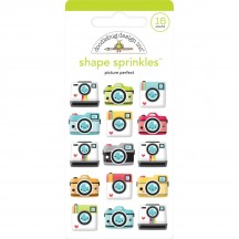 Doodlebug I Heart Travel Picture Perfect Camera Sprinkles Glossy Enamel Shapes 6351