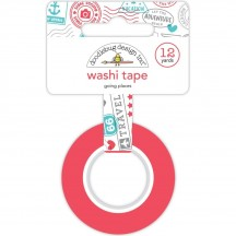 Doodlebug I Heart Travel Going Places Decorative Washi Tape 6346