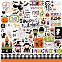 "Echo Park I Love Halloween 12""x12"" Element Shape Stickers ILH218014"