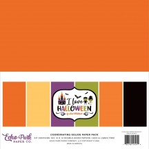 "Echo Park I Love Halloween 12""x12"" Solids Paper Kit LH218015"