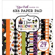 "Echo Park I Love Halloween 6""x6"" Double-Sided Paper Pad ILH21023"