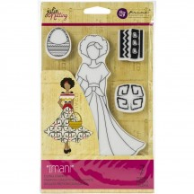 Prima Marketing Imani Julie Nutting Mixed Media Doll Rubber Cling Stamp 912918
