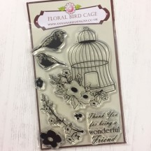 Anna Marie Designs Clear Stamps - Floral Bird Cage