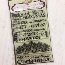 Anna Marie Designs Clear Stamps - Christmas Background