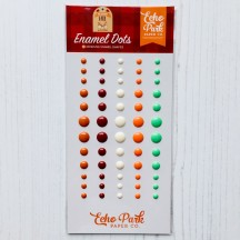 Echo Park My Favorite Fall Enamel Dots orange, red, cream, green MF187028