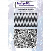 IndigoBlu Teeny Backgrounds A6 Cling Mounted Rubber Stamp Sheet IND0221