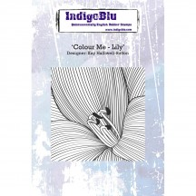IndigoBlu Colour Me - Lily A6 Cling Mounted Rubber Stamp Sheet IND0241