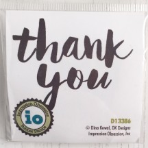 Impression Obsession Bold Thank You Cling Rubber Stamp D13386