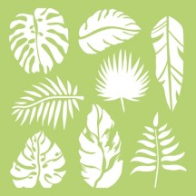 "Kaisercraft Tropical Leaves 6""x6"" Stencil Template IT485"