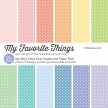 "My Favorite Things Itsy Bitsy Polka Dots Pastels 6""x6"" Paper Pack"