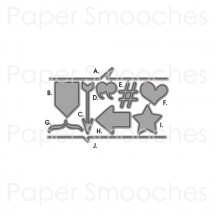 Paper Smooches Wise Dies Cardbooking Accents Universal Cutting Dies J1D114