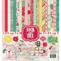 "Echo Park Jack and Jill Girl 12""x12"" Collection Kit JJG81016"