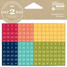 Jillibean Soup Day 2 Day Planner Number Stickers - 1217