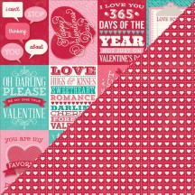 """Jillibean Soup Heart Healthy Red Bean Soup Bite Size Bits 12""""x12"""" Double Sided Cardstock - Journaling Elements Cards JB0189"""