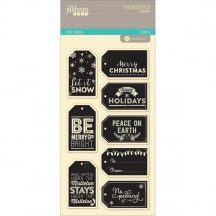Jillibean Soup Holly Berry Borscht Christmas Tags Large Clear Stamp Set JB0396