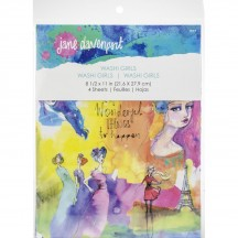 Jane Davenport Mixed Media Washi Sheets Girls JD013