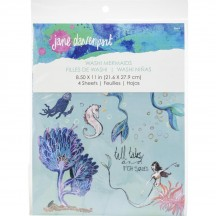 Jane Davenport Mixed Media Washi Sheets Mermaids JD014
