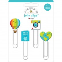 Doodlebug I Heart Travel Jelly Clips 6369