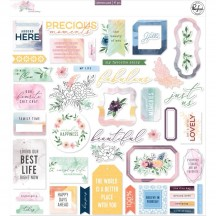 Pinkfresh Studio Just a Little Lovely Die-Cut Cardstock Ephemera Pack RC500419