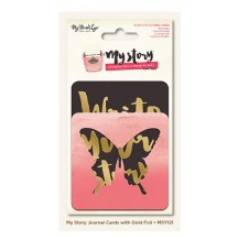 My Mind's Eye My Story Die-Cut & Gold Foil Journal Cards MYS121