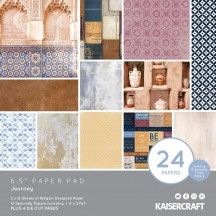 "Kaisercraft Journey 6.5""x6.5"" Specialty Paper Pad PP1070 40 Sheets"