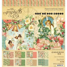 "Graphic 45 Joy to the World Designer 8""x8"" Paper Pad 24 sheets 4501908"