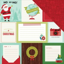 "American Crafts Shimelle Christmas Magic Joy Double-sided 12""x12"" Cardstock 340610"