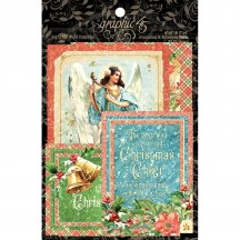 Graphic 45 Joy to the World Christmas Journaling & Ephemera Cards 4501914