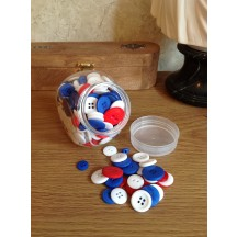 Craftie-Charlie Jar of Buttons - Jubilee mix