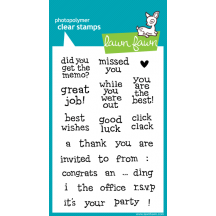 Lawn Fawn Clear Stamps - Just My Type Too LF316