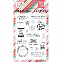 Echo Park Just Add Glitter Clear Stamp Set IHC169044