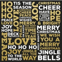"Kaisercraft A Touch of Gold Christmas Words 12""x12"" Foiled Paper PS423"